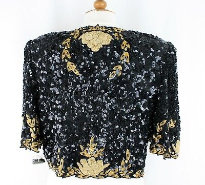 Jasdee Vintage Bolero Jacket HandWork Bead Sequins & Zari Emroidery On Silk 5011 2