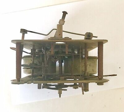 Untested Antique Clock Movement For Spares And Repairs 5