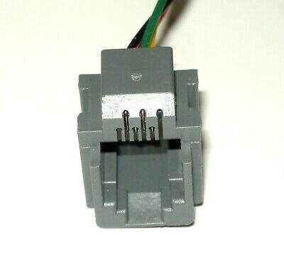 Lot of 5 Modular Jacks with leads RJ11/RJ14 wiring 6P4C, Part# 623K, see photos 3