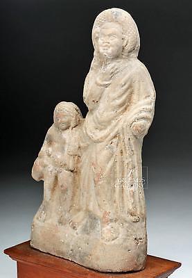 Romano-Egyptian Terracotta Figure with Child Lot 15