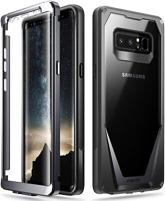 """Poetic Guardian """"Rugged Heavy Duty"""" Case Cover For Samsung Galaxy Note 8 Black 2"""