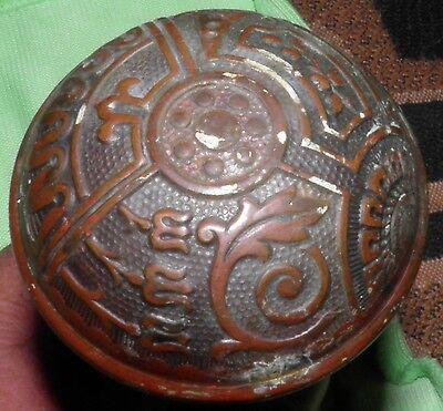 Antique Eastlake Brass Door Knobs Orbin Hardware Locksets Victorian BIN Save $$ 3