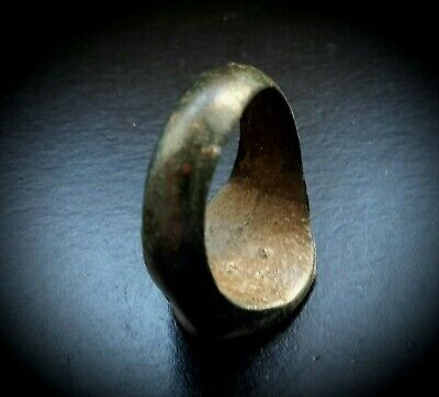 ANCIENT BRONZE SEAL RING SCRIPT TO THE BEZEL 1st CENTURY B.C. 7