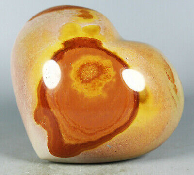 315g Polished POLYCHROME JASPER HEART Reiki Healing Palm Stone - Madagascar 6