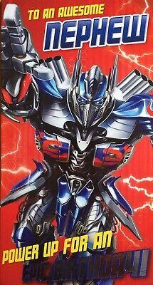Transformers 5x7 Bumblebee Optimus Prime General Badged Birthday Card