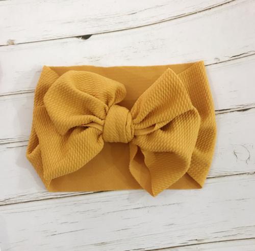 Handmade Baby Girls Large Bow Headband Infant Toddler Knot Hair Band Head Wrap 5