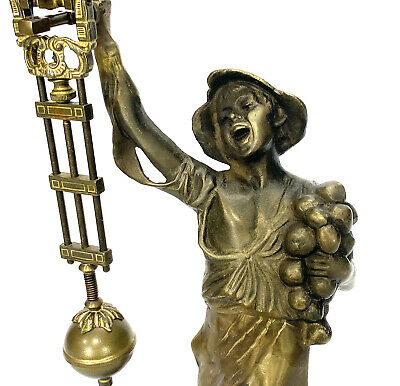German Style Junghans Brass Onion Body Figure 8 Day Swinging Swinger Clock 6