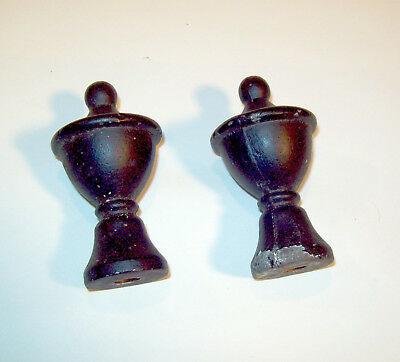 "Cast Aluminum Finials, 3"" tall, 1 5/8"" wide, , LOT of 2 2"