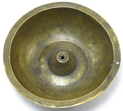 Antique indo Islamic brass magic deviation hand calligraphy holy bowl. G3-25 US 4