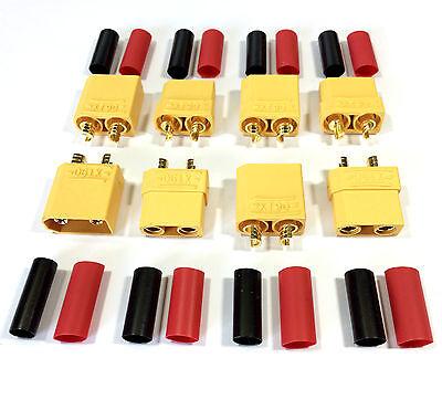 5 Paar 10 Stück XT60 Goldstecker Blau Lipo Akku Stecker Buchse Schrumpfschlauch