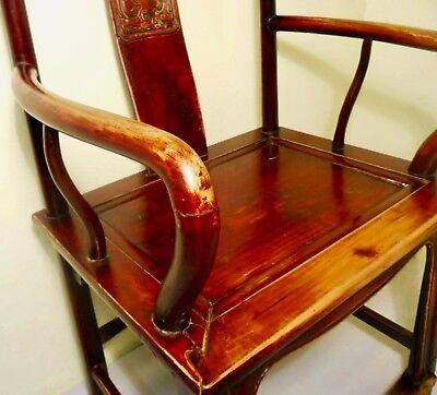 Antique Chinese Ming Arm Chair (2775), Cypress/Elm, Circa 1800-1849 5