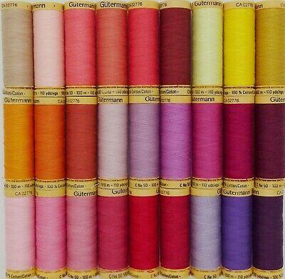 Gütermann Thread - 100m Reel 100% Cotton Machine + Hand Sewing Quilting 4