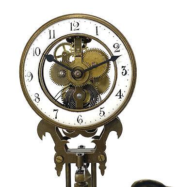 German Style Junghans Onion Boy Swinging Swinger Clock w 8 Day Skeleton Movement 5