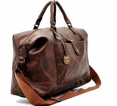 BORSONE VINTAGE in pelle da viaggio lavoro borsa COVERI uomo a mano e tracolla
