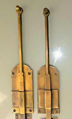 """4 flush BOLT french old age style doors furniture heavy brass slide 11"""" bolts B 6"""