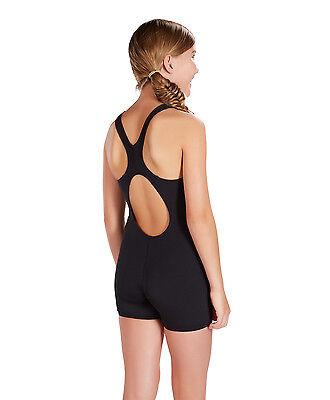 Speedo Girls Swimsuitswimming Costumenew Endurance Black Legsuit
