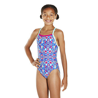 2fcaf2f06b6 1 Of 8FREE Shipping Speedo Girls Swimsuit.cat Psychedelic Blast Thinstrap Swimming  Costume 8S C245 Sc 1 St PicClick UK