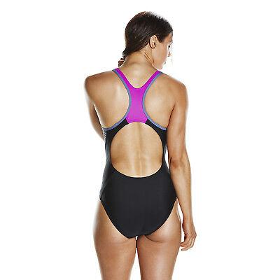 Speedo Womens Swimsuitboom Splice Bust Support Navy Swimming Swim