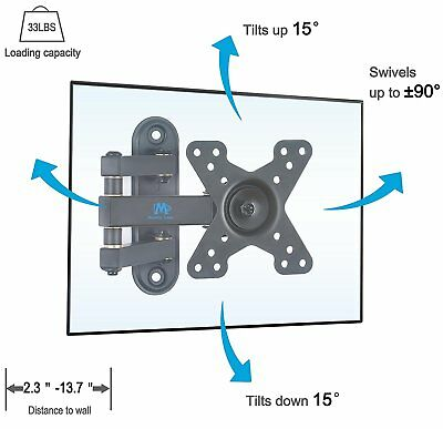 Mounting Dream MD2463 TV Wall Mount Bracket with Full Motion Articulating Arm (1 2