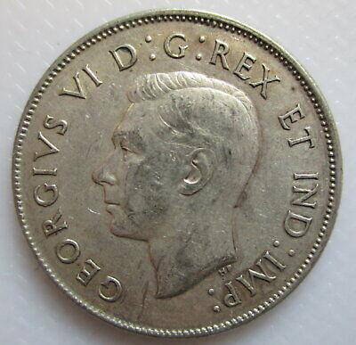 1943 Canada 50¢ Fifty Cent Half Dollar Coin 2