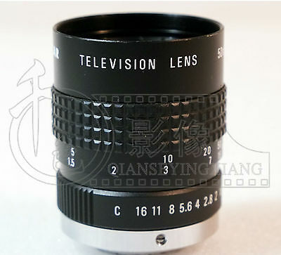 Used Good COSMICAR50/1.8TV 50mm 1:1.8 Mount Television Lens CCTV #E-R1  GY 3