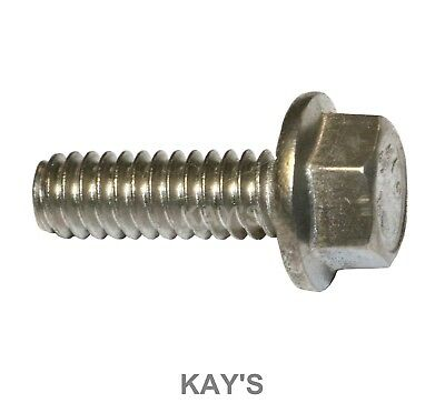 Flanged Hexagon Head Bolts Flange Hex Screws A2 Stainless Steel M5 M6 M8 M10 3