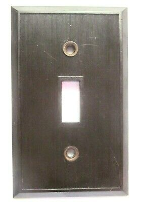 Hemco USA Switch Wall Plate Cover Fine Lines Ribs Brown Bakelite Antique 5