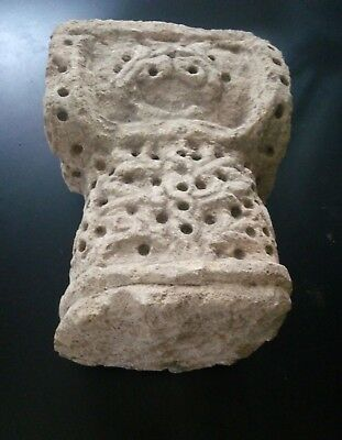 Original Al Andalus. Column Capital From Walls. Ancient Arab Patio 4