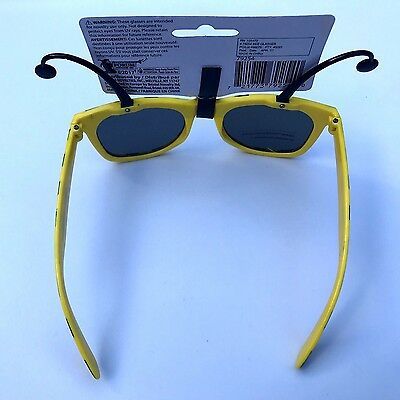 94015c86caf ... Funny BUMBLE BEE SUNGLASSES Bug Mask Child Black Yellow Stripe Antenna  Insect 4