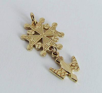 585er-Gold 14 kt Anhänger Kreuz Hugenottenkreuz Hugenotten K502