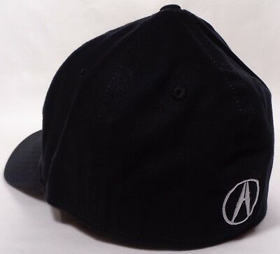 Hat Cap Licensed Flex Fitted Acura A Logo Black Small or Large HR 2001
