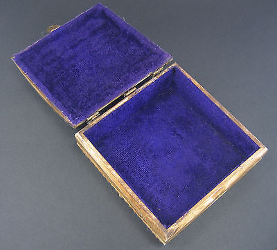 1940 -1960 ceramic / bone / ? Handmade stone Box Jewelry Storage Unique Vintage 6