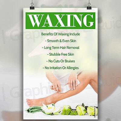 HEALTH BEAUTY SPA SALON BODY TREATMENT PRINT GREEN WAXING LEGS POSTER A3 A4