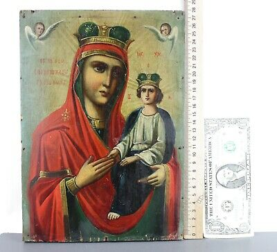 Antique Icon Mother of God Surety of Sinners Споручница грешных Orthodox Russian 10