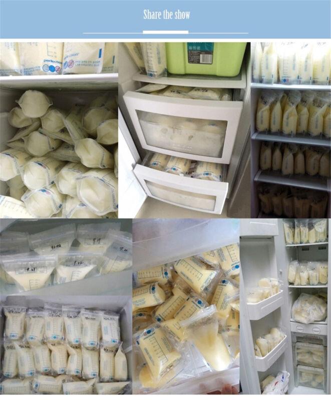 100Pcs 250ml Milk Freezing Bags Milk Baby Breast Milk Storage Bag Pouch BPA Free 7