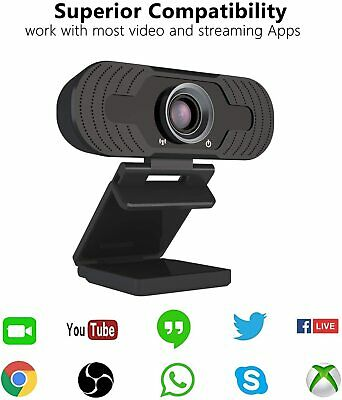 Full HD 1080P Webcam With Microphone USB For PC Desktop Laptop NEW UK Stock 2