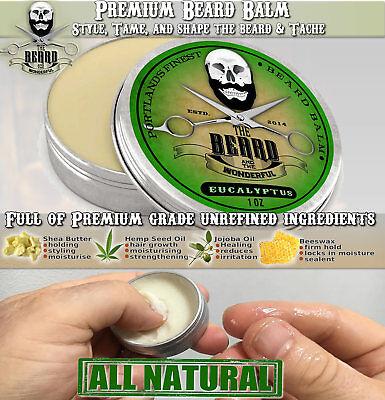 Eucalyptus Beard Balm BIG 30ml Leave-In Beard Taming Styling Conditioner 3