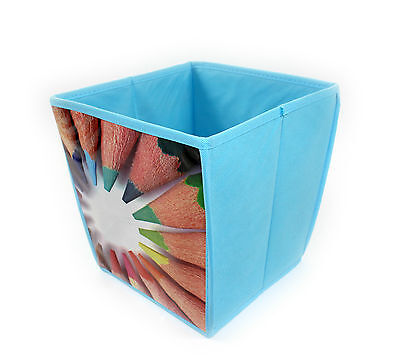 New Colourful Waste Paper Dust Rubbish Bin Basket Office Bedroom School Art Uk