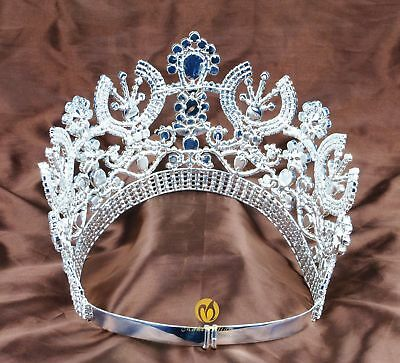"""Amazing Tiara Diadem 3.5/"""" Clear Crystal Wedding Crowns Beauty Pageant Party Prom"""
