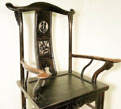 Antique Chinese High Back Arm Chairs (5755) (Pair), Circa 1800-1849 9