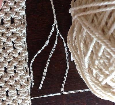 1.5mm-2mm Natural Cream Cotton Rope - macrame/pot hanger/loom/weave/boho/wallart 2