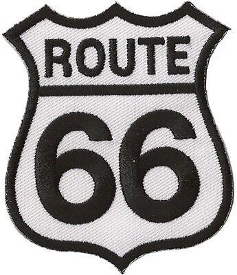Patche écusson Route 66 blanc thermocollant transfert patch 2