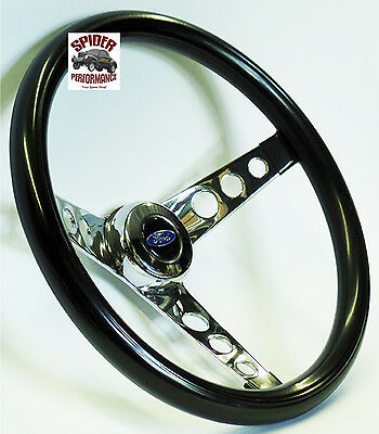 """1968 Ford F-100 F-250 F-350 steering wheel BLUE OVAL 13 1//2/"""" CLASSIC CHROME"""