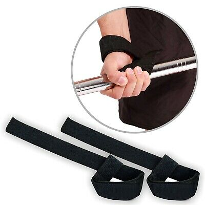 Padded Weight Lifting Training Gym Straps Hand Bar Wrist Support Gloves Wraps 2