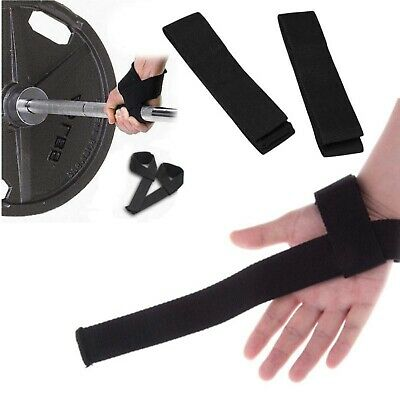 Padded Weight Lifting Training Gym Straps Hand Bar Wrist Support Gloves Wraps 8