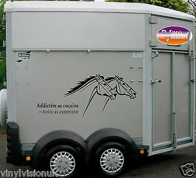 Horsebox Lorry Trailer Horse Stickers Decals Graphics Addictive As Cocaine