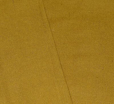aa199t Mustard Yellow Cotton Canvas 3D Box Sofa Seat Cushion Cover*Custom Size*