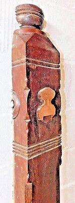 Antique Victorian Style Half Newel Post - C. 1880 Walnut Architectural Salvage 3
