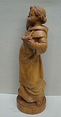 Very Large Black Forest Swiss Carving of a Monk with Raised Glass 4