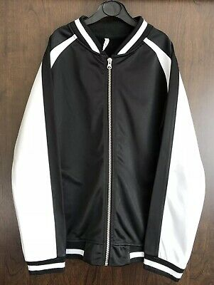 Primark Black & White Zip Front Sweatshirt Jacket Jumper Age 11-12 Years 2